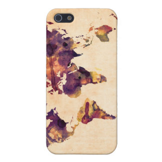 Map of the World Map Watercolor Painting iPhone SE/5/5s Case