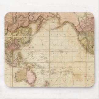 Map of the world mouse pad