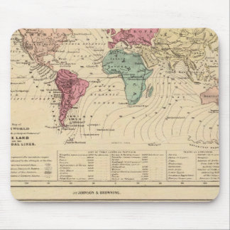 Map of The World Mouse Pads