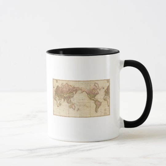 Map of the world mug