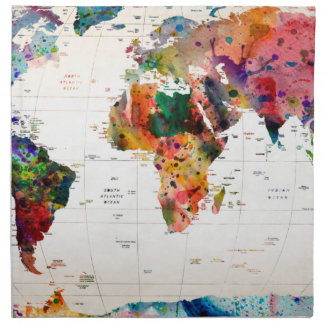 Map of the world napkin