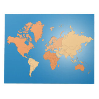 Map of the World Note Pad