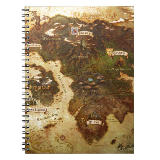 Map of the world notebooks