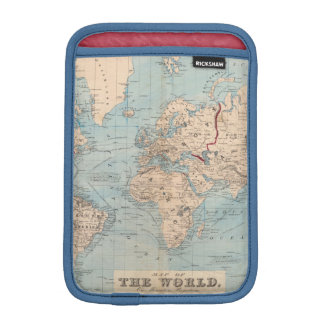 Map of the world on Mercator s projection Sleeve For iPad Mini