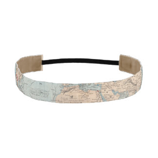 Map of the world on Mercator's projection Athletic Headband