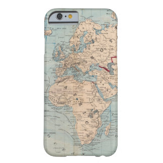 Map of the world on Mercator's projection Barely There iPhone 6 Case