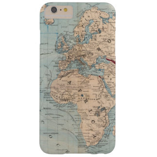 Map of the world on Mercator's projection Barely There iPhone 6 Plus Case