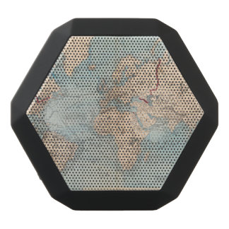 Map of the world on Mercator's projection Black Bluetooth Speaker