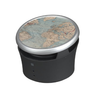 Map of the world on Mercator's projection Bluetooth Speaker