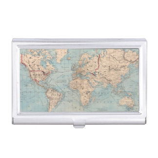 Map of the world on Mercator's projection Business Card Case