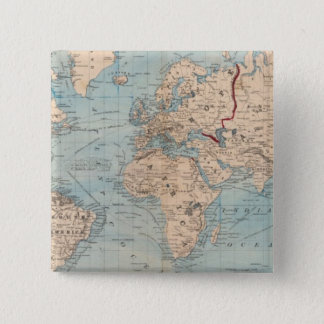 Map of the world on Mercator's projection Button
