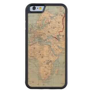 Map of the world on Mercator's projection Carved Maple iPhone 6 Bumper Case