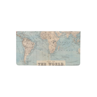 Map of the world on Mercator's projection Checkbook Cover