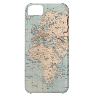 Map of the world on Mercator's projection Cover For iPhone 5C