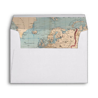 Map of the world on Mercator's projection Envelope