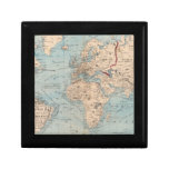 Map of the world on Mercator's projection Trinket Box