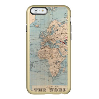 Map of the world on Mercator's projection Incipio Feather Shine iPhone 6 Case