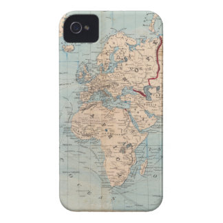 Map of the world on Mercator's projection iPhone 4 Cover