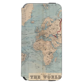 Map of the world on Mercator's projection iPhone 6/6s Wallet Case