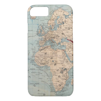 Map of the world on Mercator's projection iPhone 8/7 Case