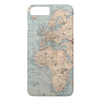 Map of the world on Mercator's projection iPhone 8 Plus/7 Plus Case