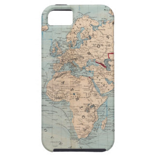 Map of the world on Mercator's projection iPhone SE/5/5s Case