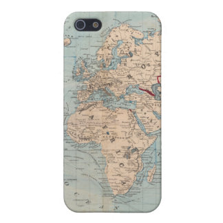 Map of the world on Mercator's projection iPhone SE/5/5s Cover