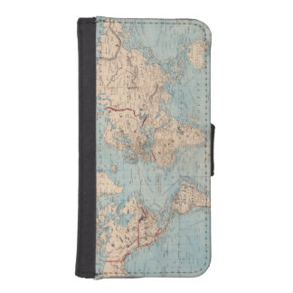 Map of the world on Mercator's projection iPhone SE/5/5s Wallet