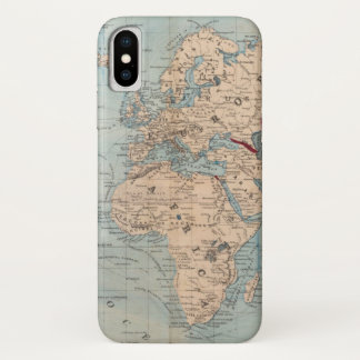 Map of the world on Mercator's projection iPhone X Case