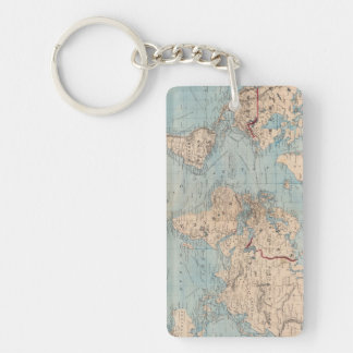 Map of the world on Mercator's projection Keychain