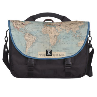 Map of the world on Mercator's projection Laptop Commuter Bag