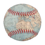 Map of the world on Mercator's projection Baseballs
