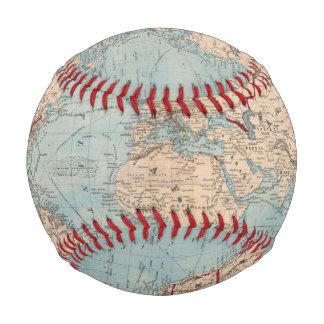 Map of the world on Mercator's projection Baseballs
