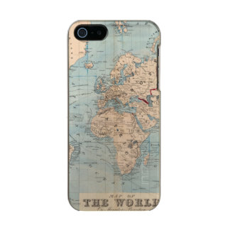 Map of the world on Mercator's projection Metallic iPhone SE/5/5s Case