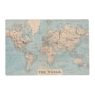 Map of the world on Mercator's projection Placemat