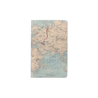 Map of the world on Mercator's projection Pocket Moleskine Notebook
