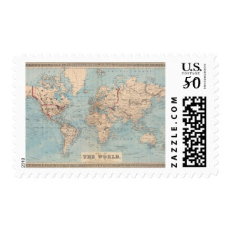 Map of the world on Mercator's projection Postage