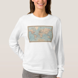 Map of the world on Mercator's projection T-Shirt