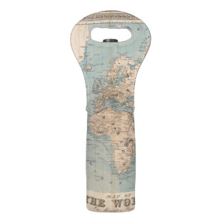 Map of the world on Mercator's projection Wine Bag