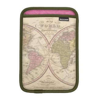 Map Of The World on the Globular Projection 2 iPad Mini Sleeve
