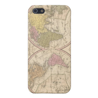 Map Of The World on the Globular Projection 2 iPhone 5/5S Cases