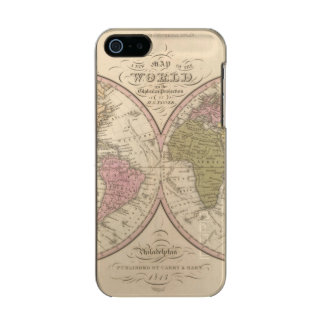 Map Of The World on the Globular Projection 2 Incipio Feather® Shine iPhone 5 Case