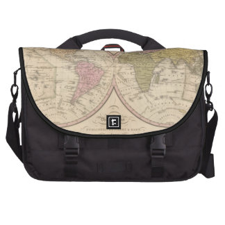 Map Of The World on the Globular Projection 2 Laptop Commuter Bag