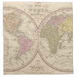 Map Of The World on the Globular Projection 2 Napkin