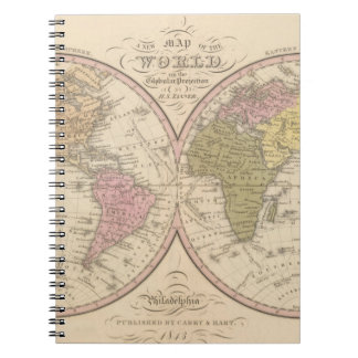 Map Of The World on the Globular Projection 2 Notebook