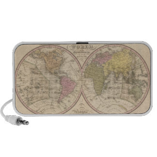 Map Of The World on the Globular Projection 2 Laptop Speakers