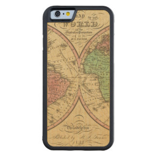 Map Of The World on the Globular Projection Maple iPhone 6 Bumper