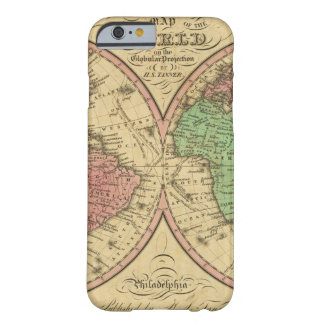 Map Of The World on the Globular Projection Barely There iPhone 6 Case