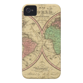 Map Of The World on the Globular Projection Case-Mate iPhone 4 Cases