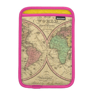 Map Of The World on the Globular Projection iPad Mini Sleeves